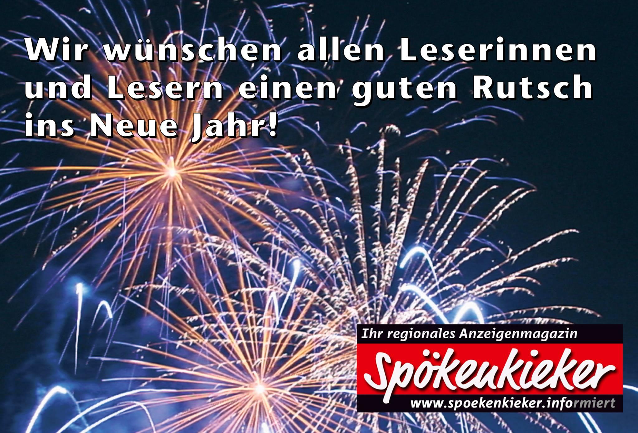 Wir wünschen einen guten Rutsch ins Neue Jahr! | Der Spökenkieker