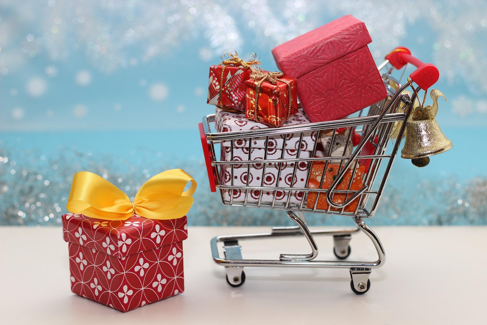 Einkaufswagen Weihnachten
