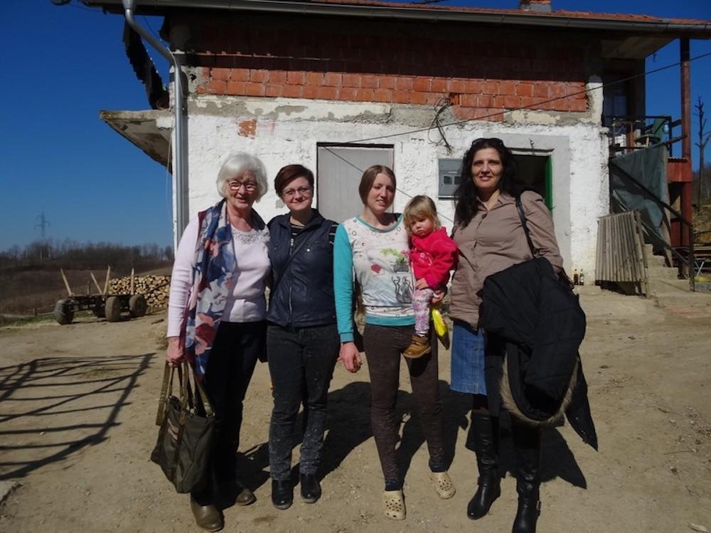 Elvira Satschepilo, Aldijana Sistek-Sofic, junge Mutter und Lilijana Malesevic