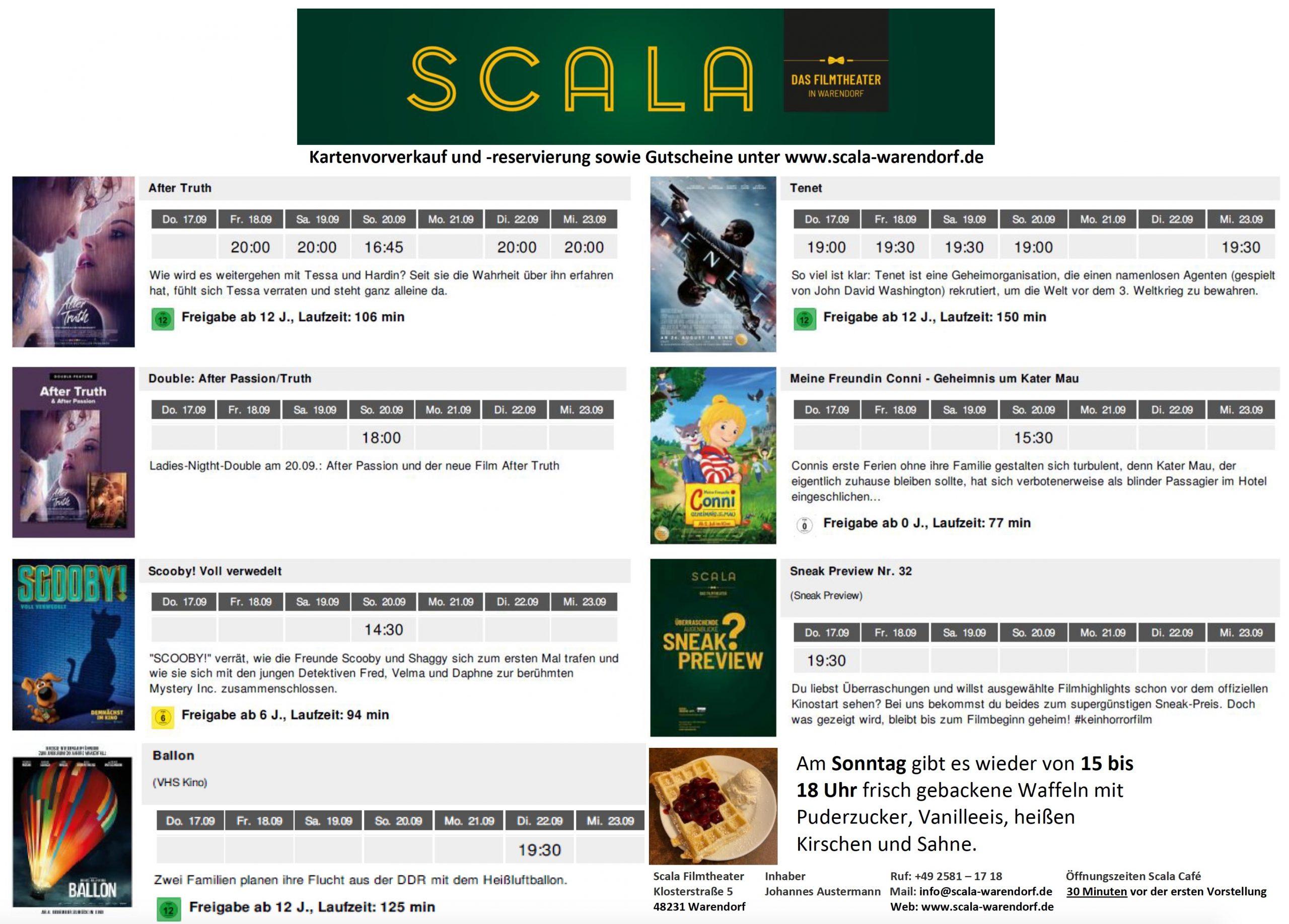 Scala Warendorf Programm