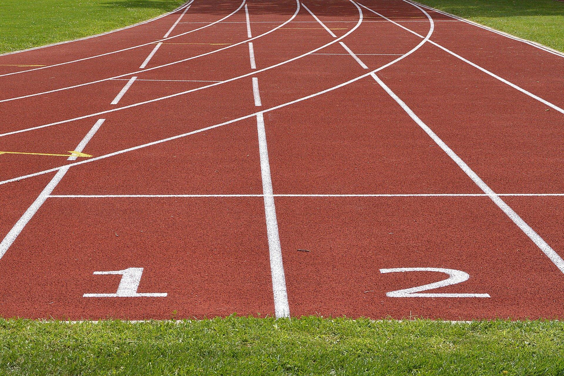 Sport Tartanbahn Laufstrecke Laufen